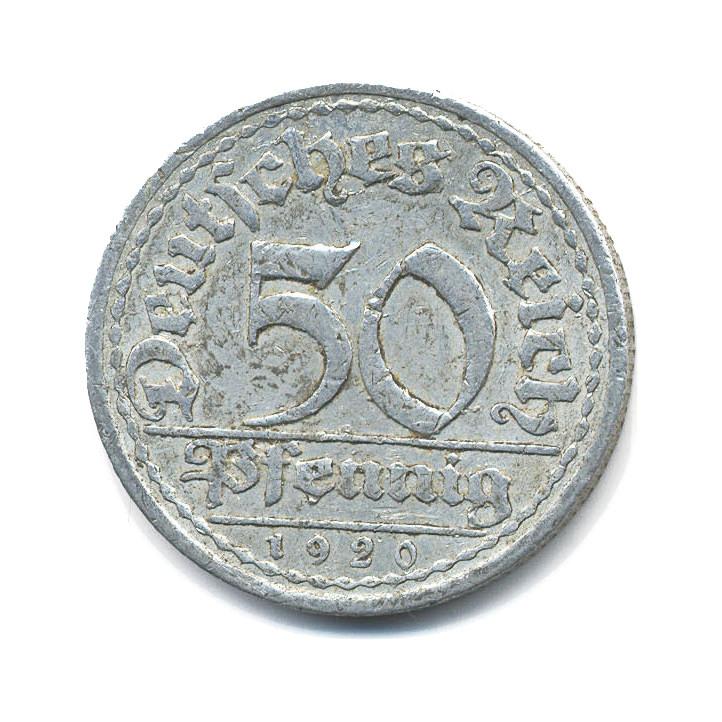 50  пфенингов Германия 1920 года