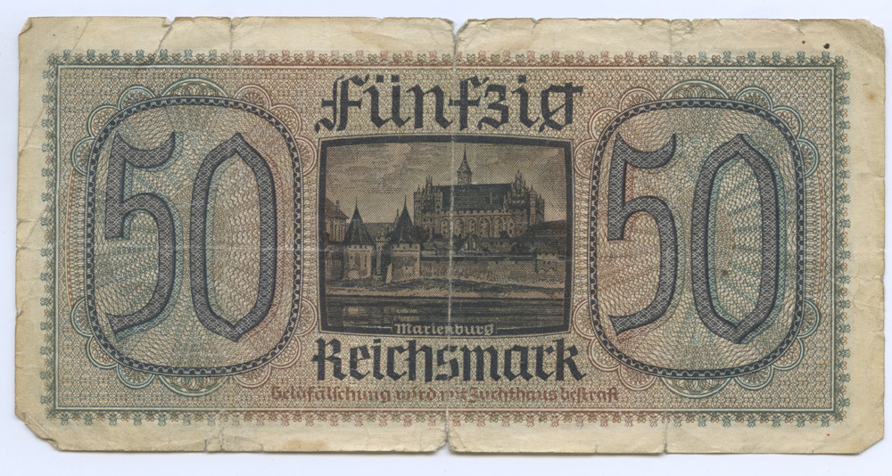 Монета 2 рейхсмарки (Гинденбург). Белый металл. Германия (Третий рейх), 1938 год