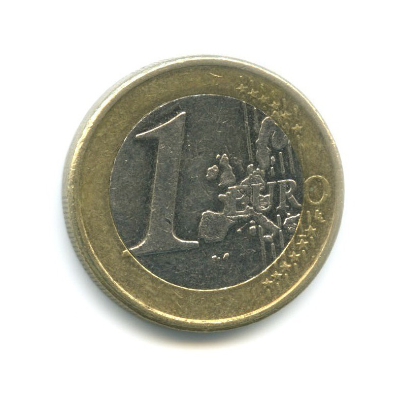 Монета финляндии 1 евро 2000 год два летящих лебедя-кликуна национальная птица финляндии, vf