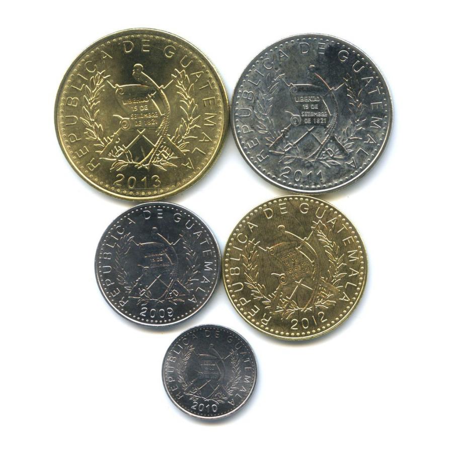Набор монет 2009-2013 (Гватемала)
