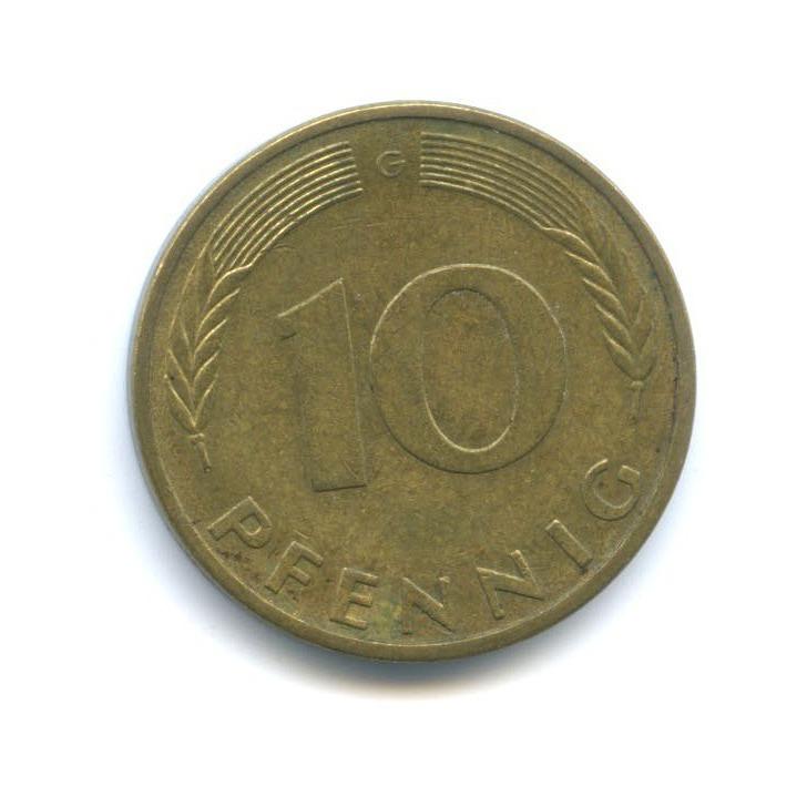 10 пфеннигов 1981 года G (Германия)