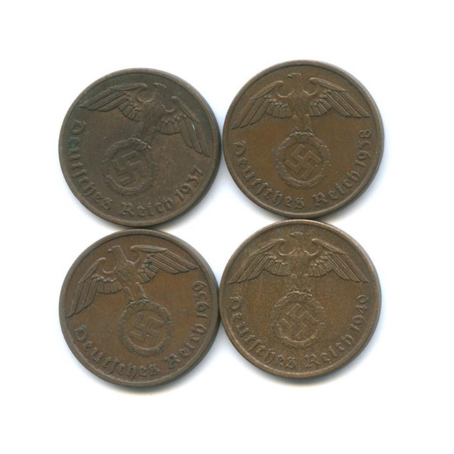 Набор монет 2 рейхспфеннига 1937-1940 (Германия (Третий рейх))