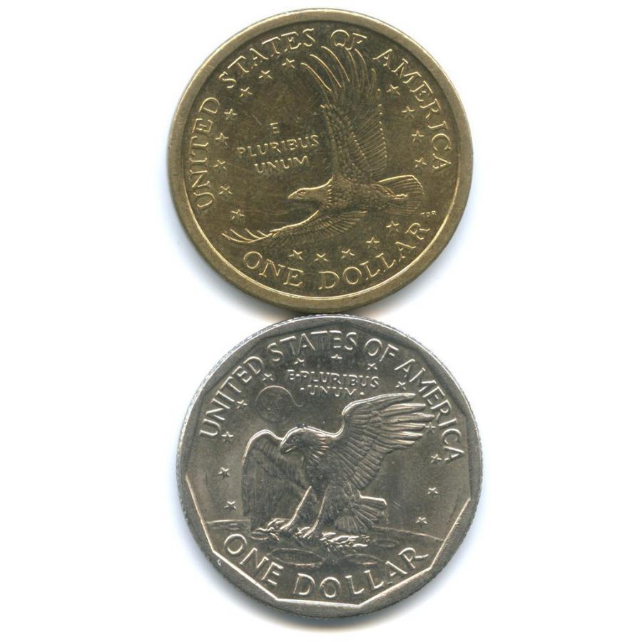 Набор монет 1 доллар 1979, 2000 (США)