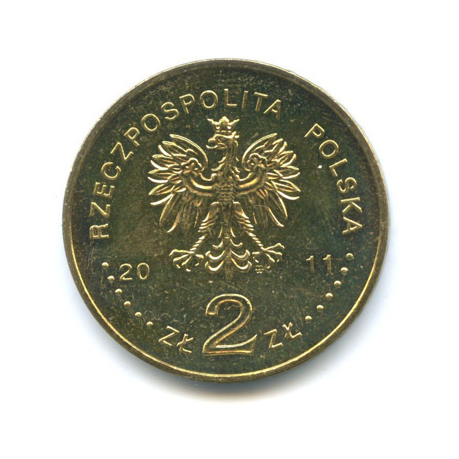 2 злотых — Города Польши - Млава 2011 года (Польша)