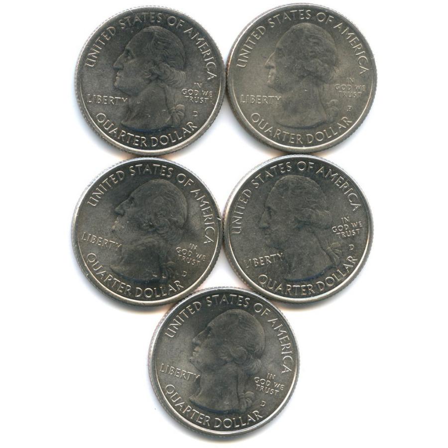 Набор юбилейных монет 25 центов (квотер) P, D (США)