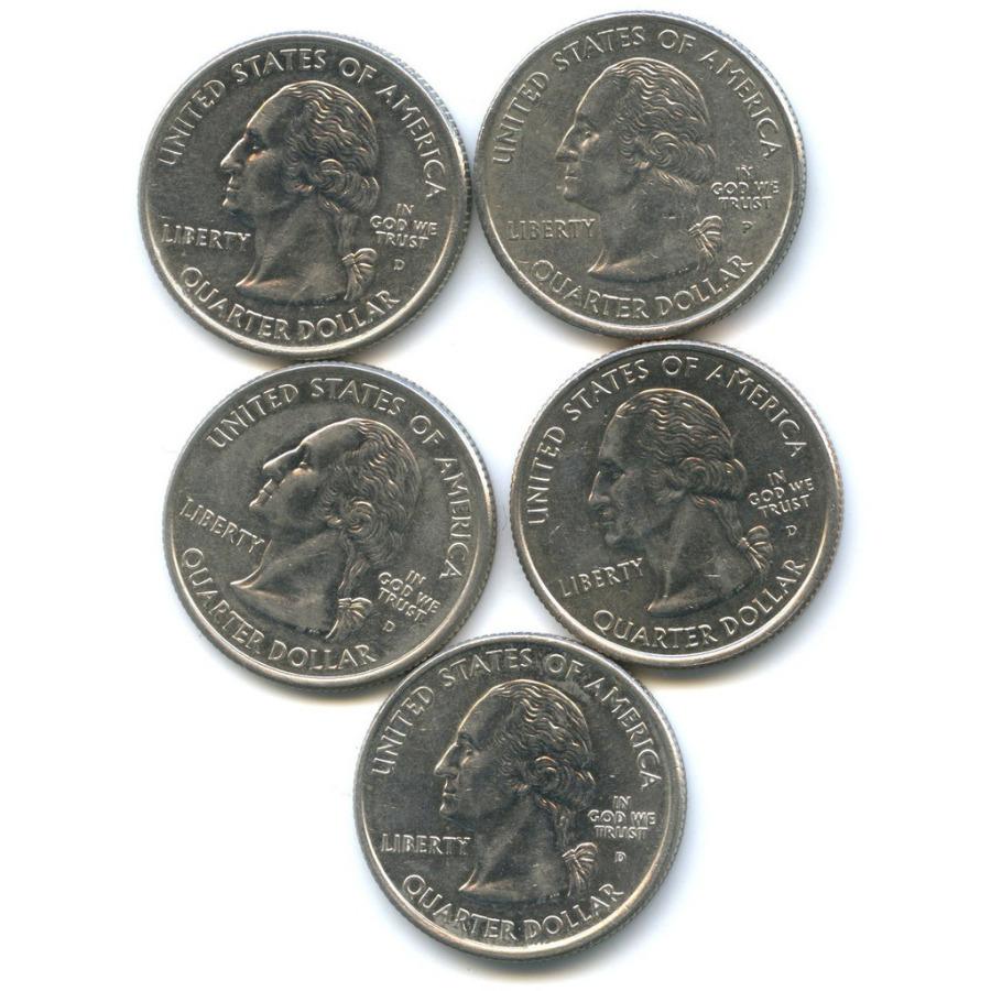 Набор монет 25 центов (квотер) - Штаты итерритории 2006 года Р, D (США)