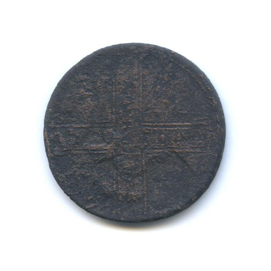 1 копейка «облачная» (перечекан из «крестовика») 17?? (Российская Империя)