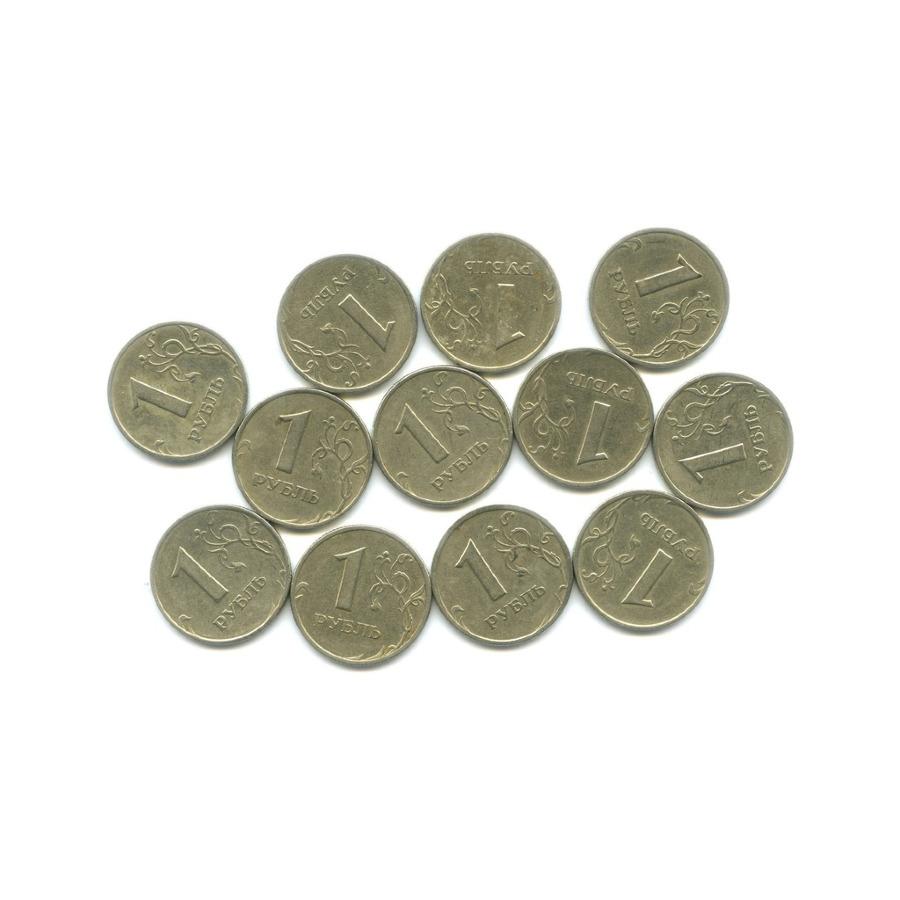 Набор монет 1 рубль (12 шт.) 1999 года СПМД, ММД (Россия)