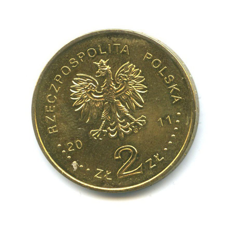 2 злотых — Европа без границ - 100 лет обществу защиты слепых 2011 года (Польша)