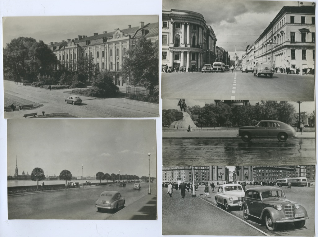 Набор почтовых карточек «Ленинград. Автомобиль «Победа» 1953 года (СССР)