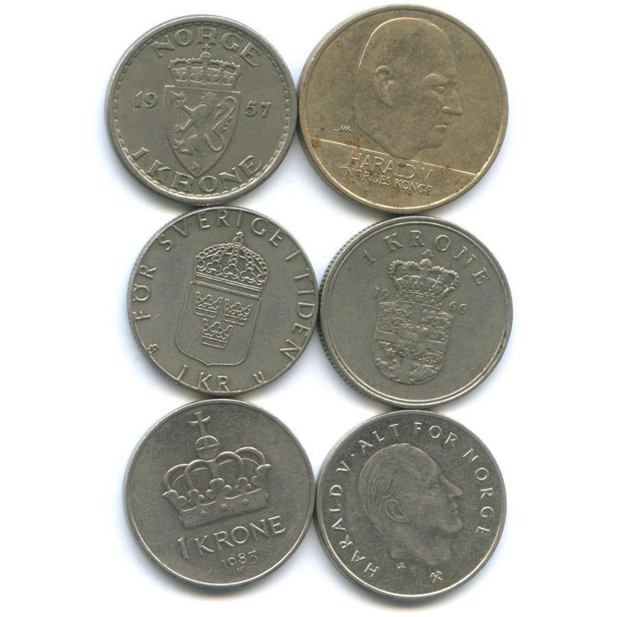 Набор монет (Норвегия, Швеция)