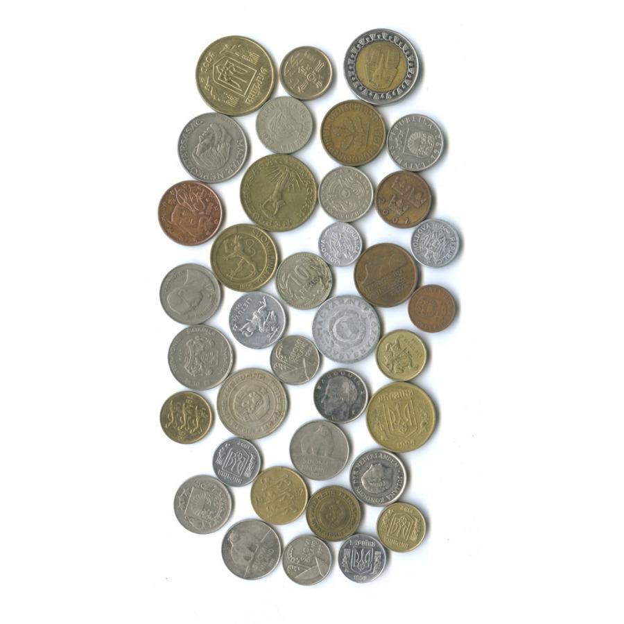 Набор монет, разные страны (37 шт.)