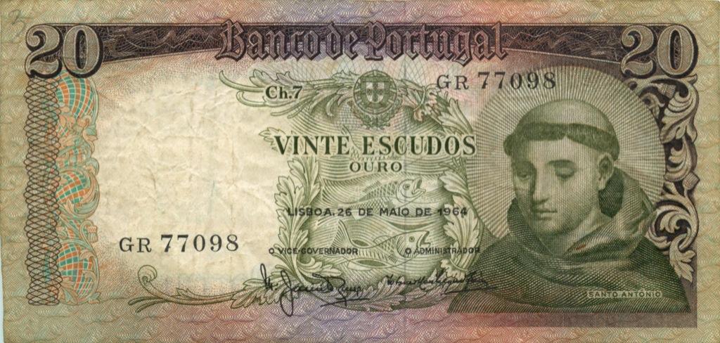 20 эскудо 1964 года (Португалия)