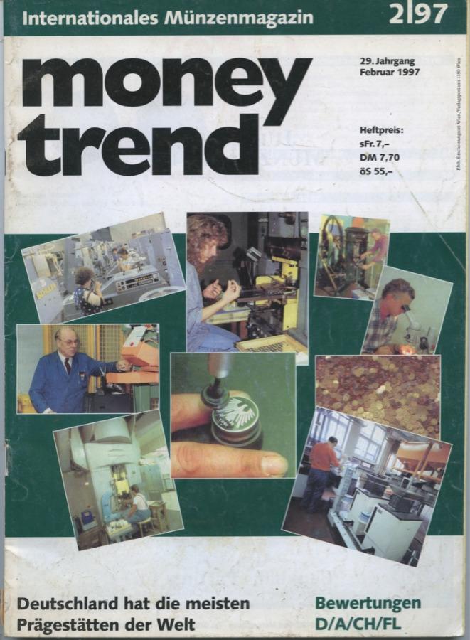 Журнал «Money trend», 102 стр. 1997 года (Германия)