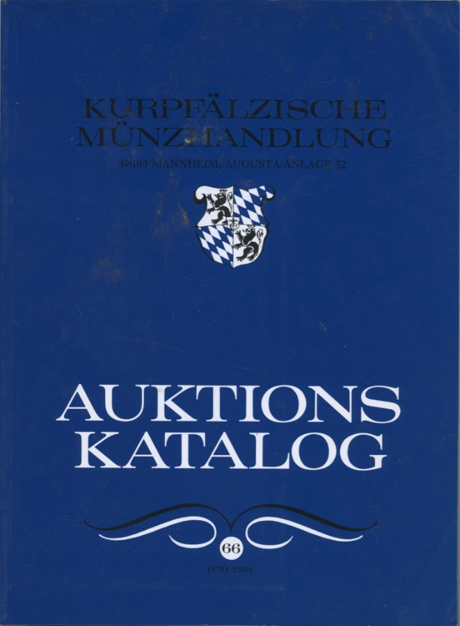 Каталог аукциона нумизматики «Kurpfalzische Munzhandlung», 114 стр. 2004 года (Германия)