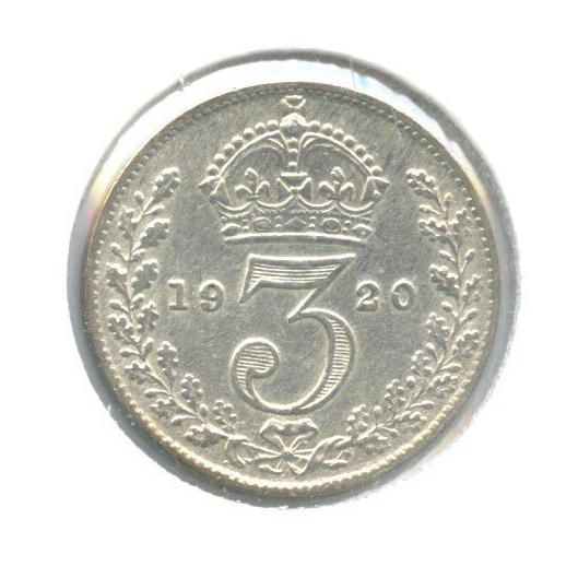 3 пенса (в холдере) 1920 года (Великобритания)