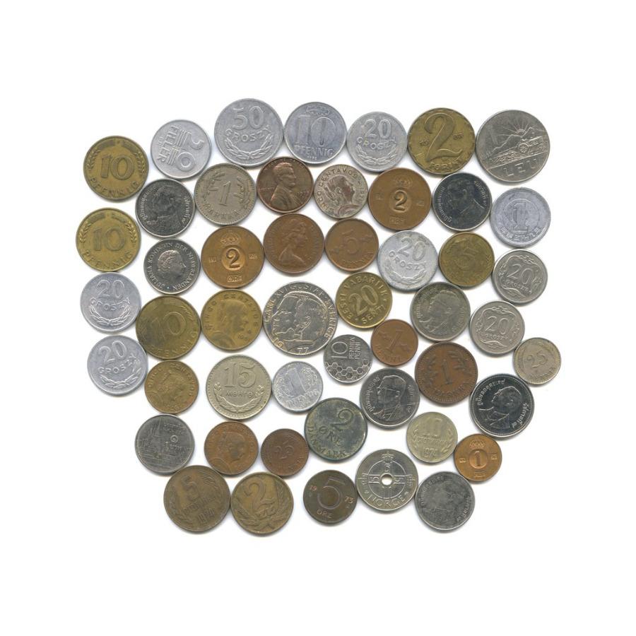 Набор монет - разные страны (40 шт.)