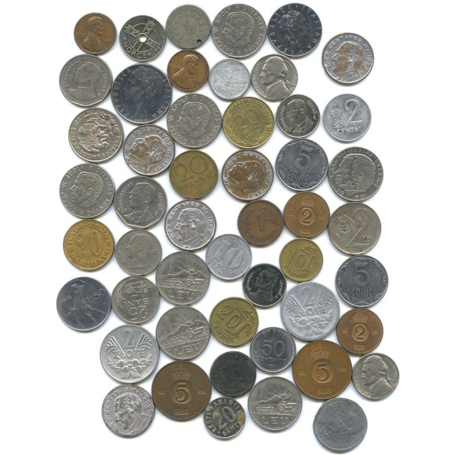 Набор монет - разные страны (50 шт.)