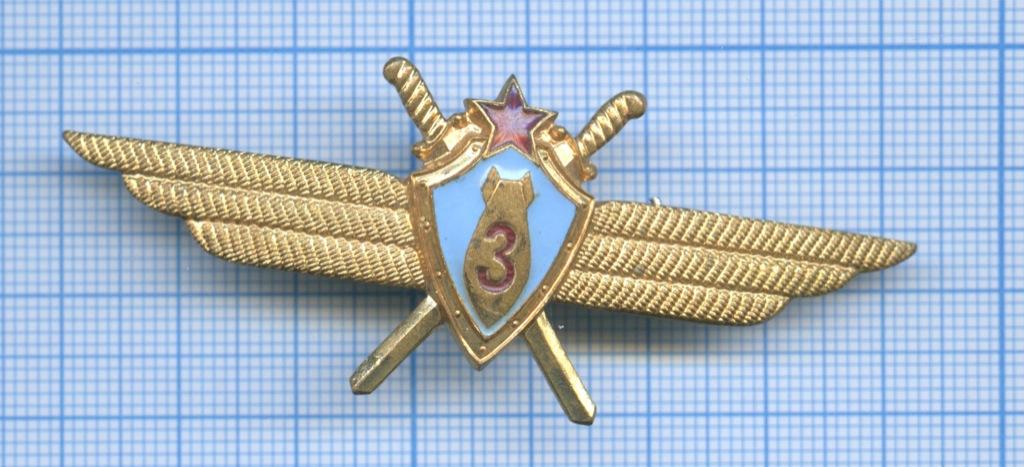 Знак нагрудный «Классность летного состава авиации ВССССР» (3-й класс) (СССР)