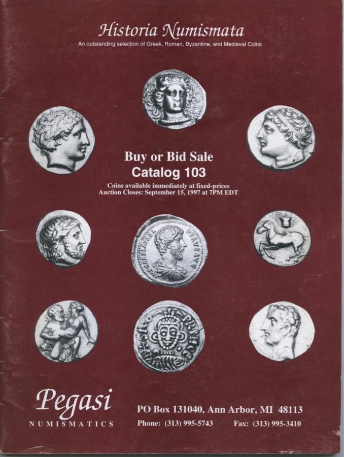 Каталог аукциона нумизматики №103 «Historia Numismata», 58 стр. 1997 года (США)