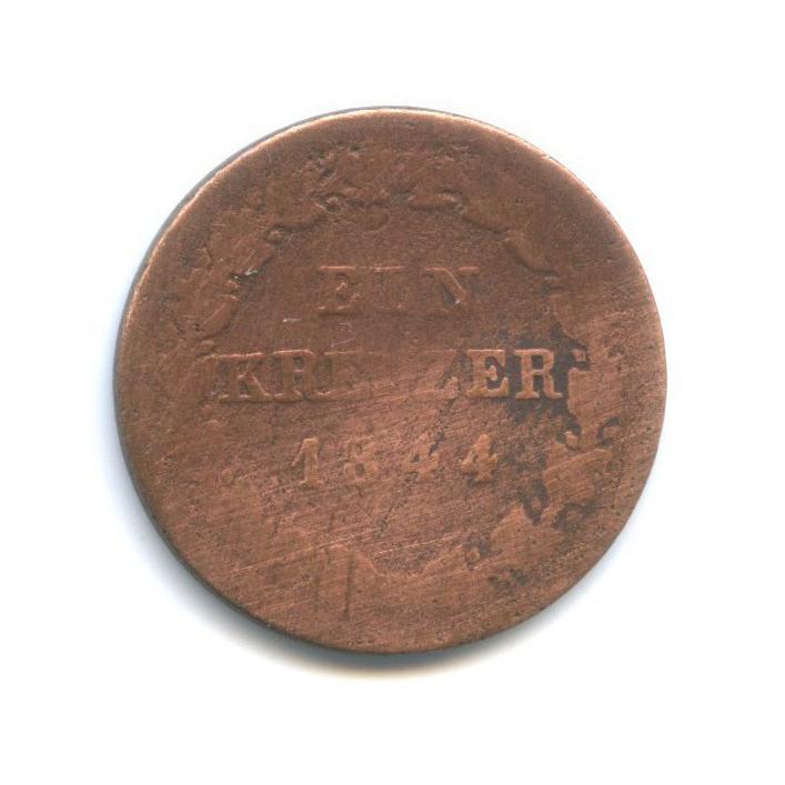 1 крейцер, Нассау 1844 года