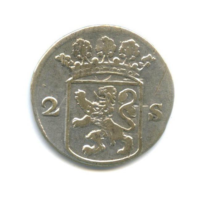 2 стивера, Голландия 1752 года