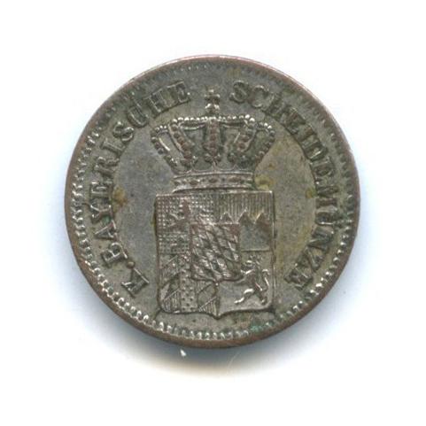 1 крейцер, Бавария 1862 года