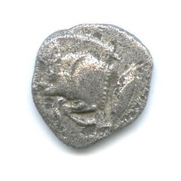 Обол - Мизия (Кизик) 480-400 гг. до н. э., лев/кабан