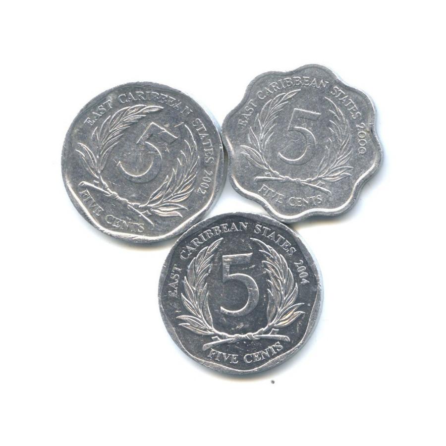 Набор монет 5 центов (Восточные Карибы)