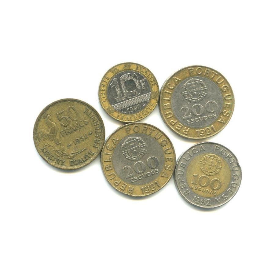 Набор монет (Португалия, Франция)