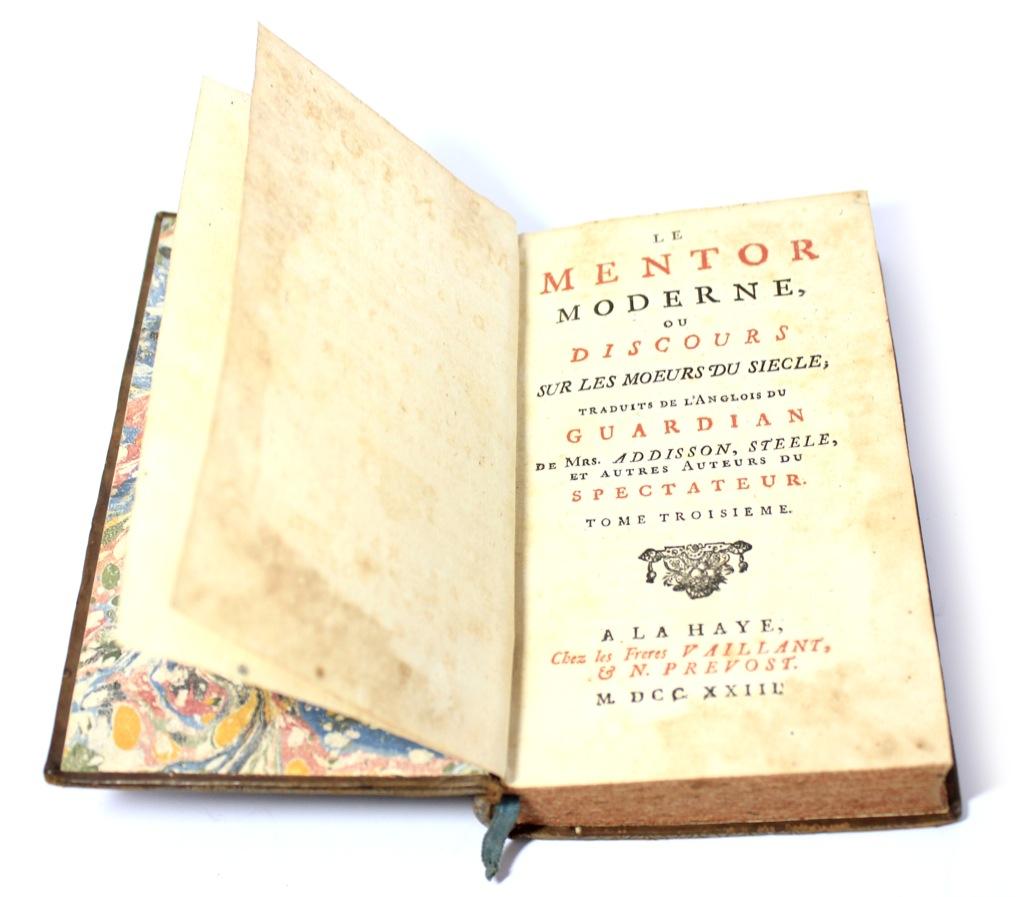 Книга «Современный наставник», 384 стр. 1723 года (Франция)