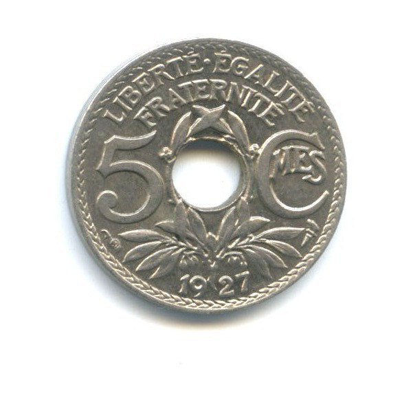 5 сантимов 1927 года (Франция)