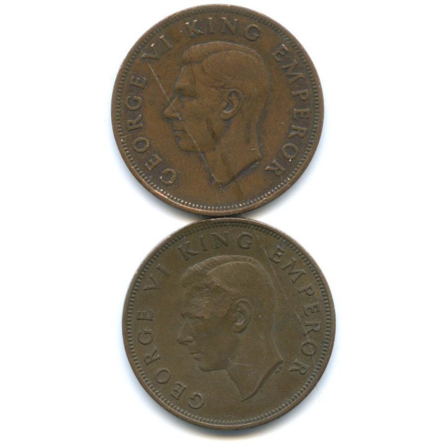 Набор монет 1 пенни 1940, 1945 (Новая Зеландия)