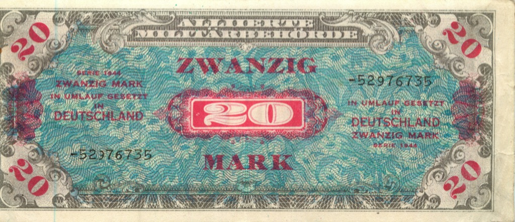 20 марок 1944 года (Германия (Третий рейх))
