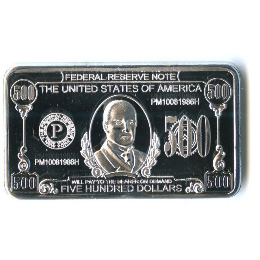 Жетон-слиток «500 долларов, США» (под серебро)