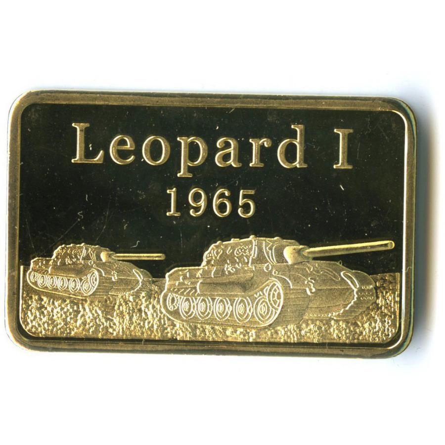 Жетон-слиток «Танк «Leopard I» (под золото)