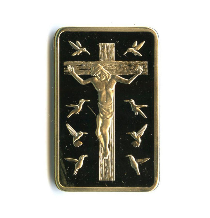 Жетон-слиток «Распятие Иисуса Христа» (под золото)