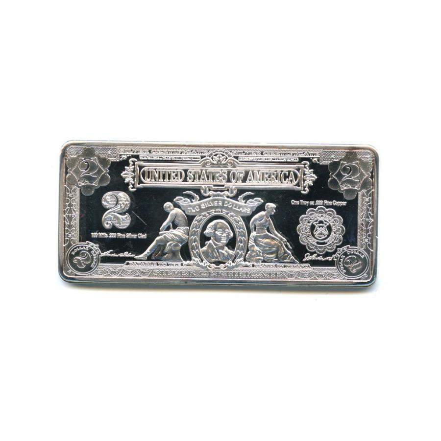Жетон-слиток «2 доллара США» (под серебро)