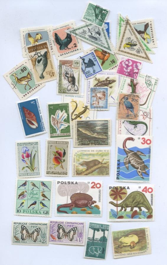 Набор почтовых марок (35 шт.)