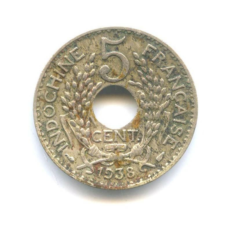 5 центов (Французский Индокитай) 1938 года