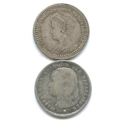 Набор монет 10 центов 1897, 1919 (Нидерланды)
