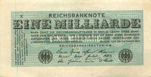 1 миллиард марок 1924 года (Германия)