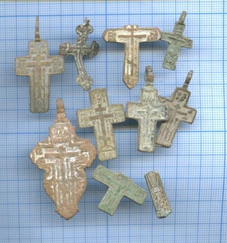 Набор нательных крестиков иобломков