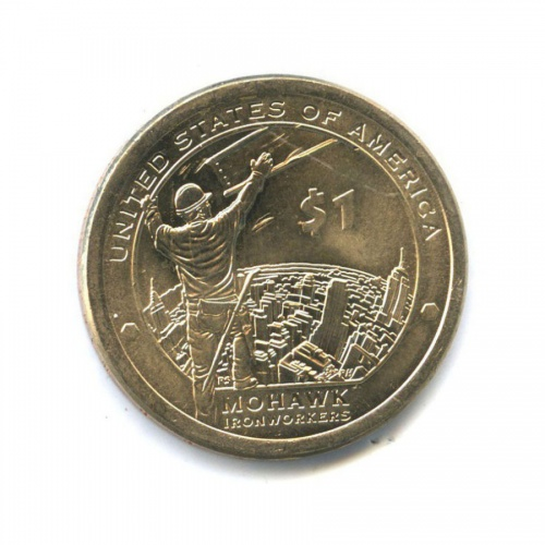 1 доллар - Мохоки - Коренные Американцы 2015 года (США)