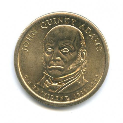 1 доллар — 6-ой Президент США - Джон Куинси Адамс (1825-1829) 2008 года D (США)