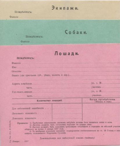 Набор документов насобственность (Российская Империя)