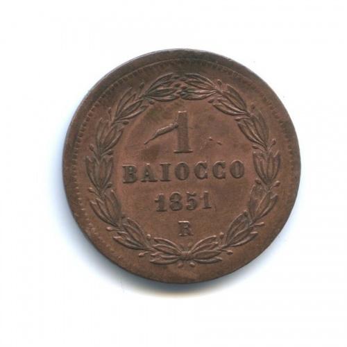 1 байоччо (Папская область) 1851 года