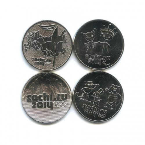 Набор монет 25 рублей - Олимпийские игры, Сочи-2014 2011-2014 (Россия)