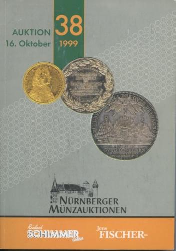 Каталог аукциона нумизматики «Nurnberger Munzauktionen» 1999 года (Германия)