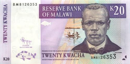 20 квач - Республика Малави 2009 года